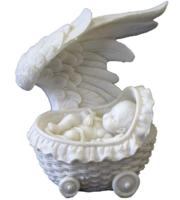 Фигурка ангелок в коляске