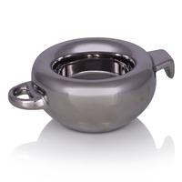 Подсвечник Royte,серебряный,керамика, 12,5*9*5 см