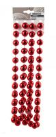 Гирлянда из бусин, Красный, 270см