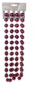 Купить Гирлянда из бусин, Бордовый, 270см
