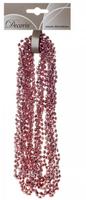 Гирлянда из бусин, Розовый, 270см