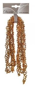Купить Гирлянда из бусин, Охра золотистая, 270см