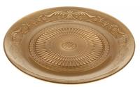 Блюдо золото  (стекло), D29см