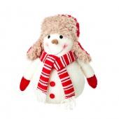 Сувенир  Снеговик, белый/красный