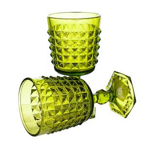 Купить Бокал для вина яркий светло-зеленый Ампир