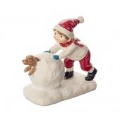 Купить Сувенир Мальчик со снежком и собакой