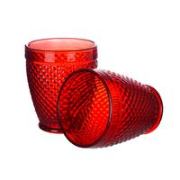 Стакан для воды нежный Красный ромбик
