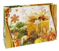 """Пакет подарочный """"Золотинка"""" горизонтальный"""