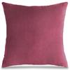 Декоративная подушка Буржуа (розовая), бархат, У