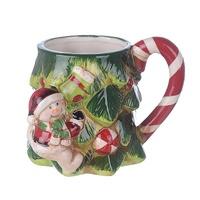 Чашка новогодний снеговик