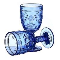 Бокал для вина яркий синий Лилия