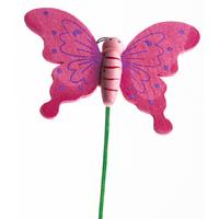 Бабочка на вставке, розовый