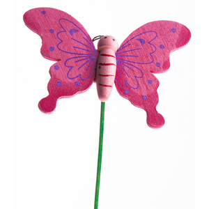 Купить Бабочка на вставке, розовый
