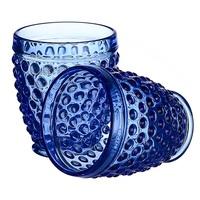 Стакан для воды яркий синий Стеклянный горошек