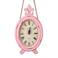 Часы настенные овал., D17*H30см, розовый