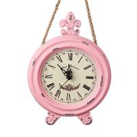 Часы настенные круг., D18*H25 см, розовый