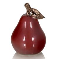 Фигурка груши Red Pear, темно-красный, керамика,