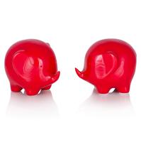 Фигурки слонов Gika, набор из 2-х шт., красный