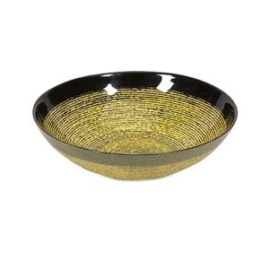 Купить Чаша Hudson, черный с желтым, стекло, 25х8 см, У