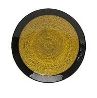 Блюдо Hudson, черный с желтым, стекло, 40х5 см, У