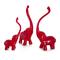 Фигурки слонов Jabary, набор из 3-х шт., белый