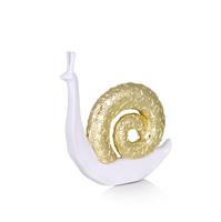 Фигурка улитки Snail (gold) малая, белый с золотым, У