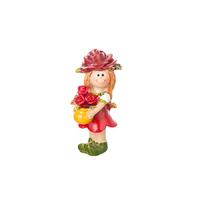 Сувенир Мальчик/Девочка с розами, красный