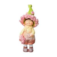 Сувенир Мальчик/Девочка с розами 13см