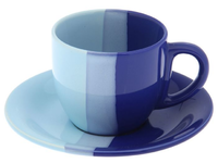 Чайная пара 200 мл сине-голубая
