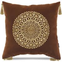 Декоративная подушка Версаль с вышивкой  (терракотовая), У