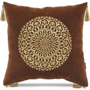 Купить Декоративная подушка Версаль с вышивкой  (терракотовая), У