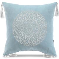 Декоративная подушка Версаль с вышивкой  (голоубая), У